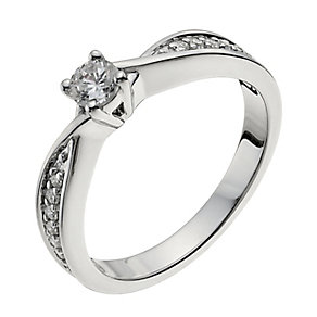 18ct white gold 33pt diamond solitaire H/I -I1 certified - Product number 9902457