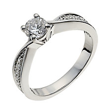 18ct white gold 66pt diamond solitaire H/I -I1 certified - Product number 9902724