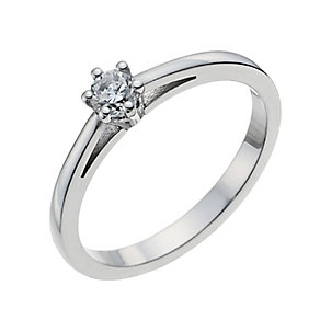 18ct white gold 15 point diamond solitaire ring - Product number 9903917