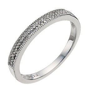 9ct white gold 12 point diamond eternity ring - Product number 9906150