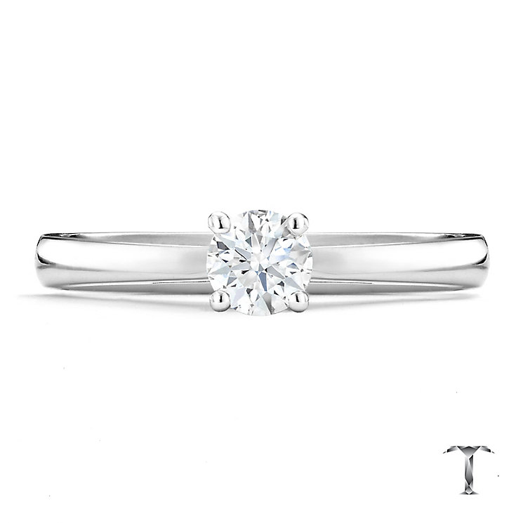 Tolkowsky 18ct white gold 0.40ct I-I1 diamond ring - Product number 9907521