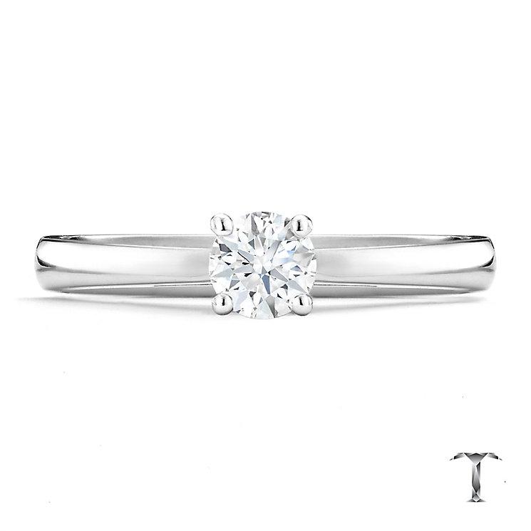 Tolkowsky platinum 0.40ct I-I1 diamond ring - Product number 9907793