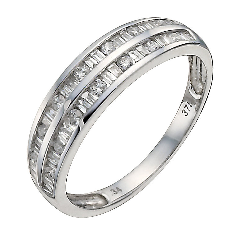 9ct white gold one third of a carat diamond eternity ring - Product number 9909133