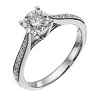 9ct white gold third carat diamond solitaire ring - Product number 9910727