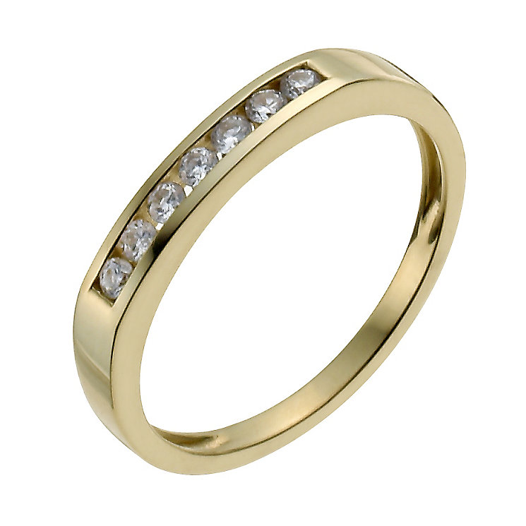 18ct yellow gold 15 point diamond seven stone eternity ring - Product number 9910980