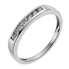 18ct white gold 15 point diamond seven stone eternity ring - Product number 9911138