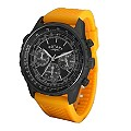 Rotary Men's Black Dial Orange Strap Watch - Product number 9911251