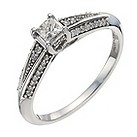9ct white gold third carat diamond soliatire ring - Product number 9911839