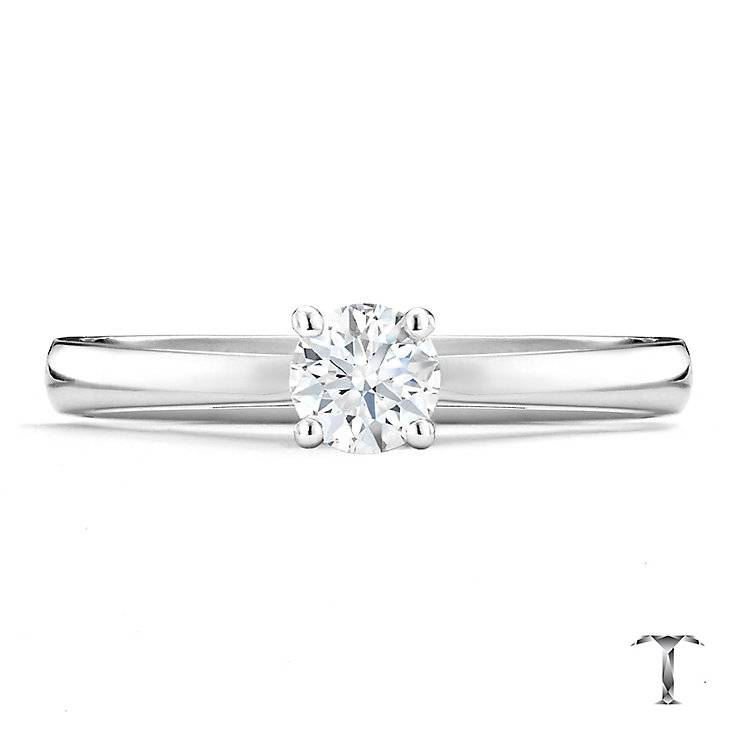 Tolkowsky 18ct white gold 0.40ct HI-VS2 diamond ring - Product number 9912533