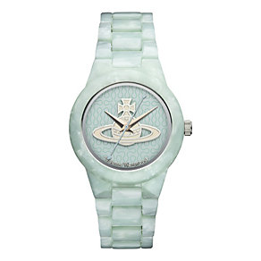 Vivienne Westwood ladies' green acrylic strap watch - Product number 9913017