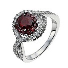 18ct white gold ruby & 1/3 carat diamond crossover ring - Product number 9914218