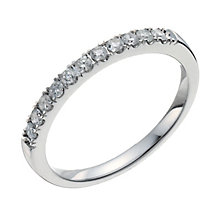 18ct white gold quarter carat diamond ring - Product number 9914609