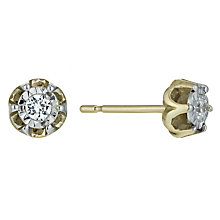 9ct Gold 1/10 Carat Diamond Stud Earrings - Product number 9921400