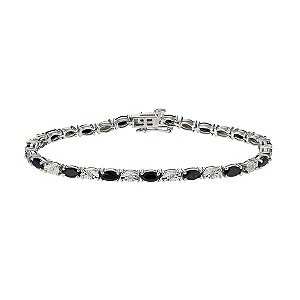 Sterling Silver Diamond and Sapphire bracelet