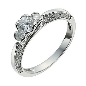 18ct White Gold Three Quarter Carat Diamond Solitaire Ring - Product number 9921818