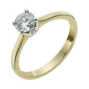 9ct Yellow Gold 1/3 Carat Diamond Solitaire Ring - Product number 9925244