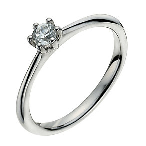 Palladium 950 1/4 Carat Diamond Solitaire Ring - Product number 9925503