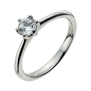 Palladium 950 1/3 Carat Diamond Solitaire Ring - Product number 9925635