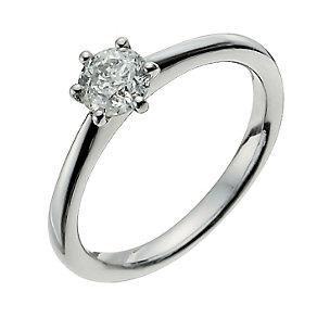 Palladium 950 1/2 Carat Diamond Solitaire Ring - Product number 9926100
