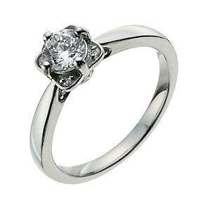 Palladium 55 Point Diamond Solitaire Ring - Product number 9926240