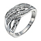 Sterling Silver 20 Point Diamond Five Stone Eternity Ring - Product number 9927972