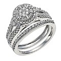 18ct White Gold 3/4 Carat Diamond Bridal Set - Product number 9928103