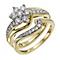 9ct Yellow Gold 3/4 Carat Diamond Bridal Set - Product number 9929975
