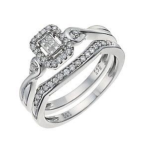 Argentium Silver 1/4ct Diamond Bridal Set - Product number 9930221