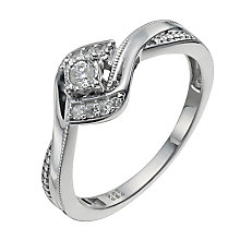 Cherished Argentium Silver 10 Point Diamond Ring - Product number 9930892