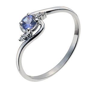 9ct White Gold Tanzanite & Diamond Ring - Product number 9931562