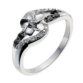 Forget Me Not Sterling Silver Sapphire & Diamond Ring - Product number 9934588