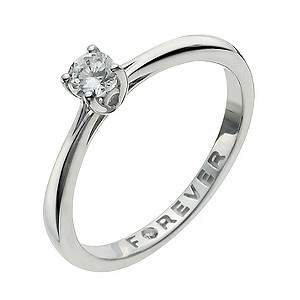 the forever 9ct white gold 1 4 carat ring