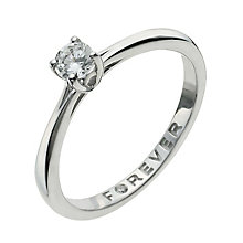 The Forever Diamond 9ct White Gold 1/4 Carat Diamond Ring - Product number 9935371