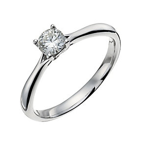 Forever 9ct White Gold 1/3 Carat Diamond Solitaire Ring - Product number 9935517