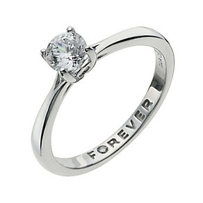 The Forever Diamond 9ct White Gold Half Carat Diamond Ring - Product number 9935649