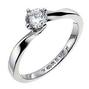 The Forever Diamond Palladium 950 1/3 Carat Diamond Ring - Product number 9935789