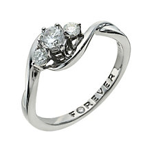 Palladium 950 1/2 Carat Forever Diamond Ring - Product number 9935916