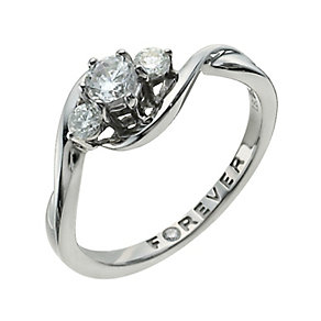 The Forever Diamond Palladium 950 1/2 Carat Diamond Ring - Product number 9935916