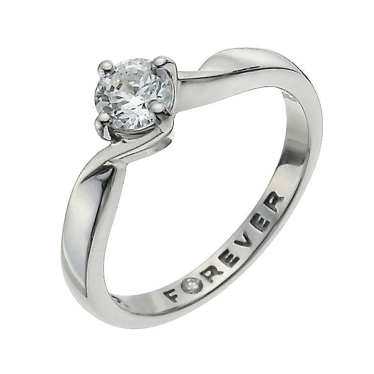 The Forever Diamond Palladium 950 1/2 Carat Diamond Ring - Product number 9936033