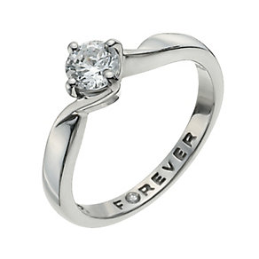 The Forever Diamond Palladium 950 1/2 Carat Diamond Ring - Product number 9936033