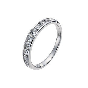 Tolkowsky 18ct white gold 0.50ct diamond band ring - Product number 9937145