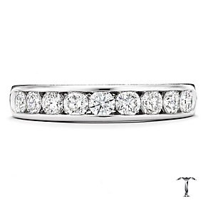 Tolkowsky 18ct white gold 0.75ct diamond band ring - Product number 9937285