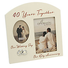Special Memories 40th Anniversary Double Photo Frame - Product number 9937773