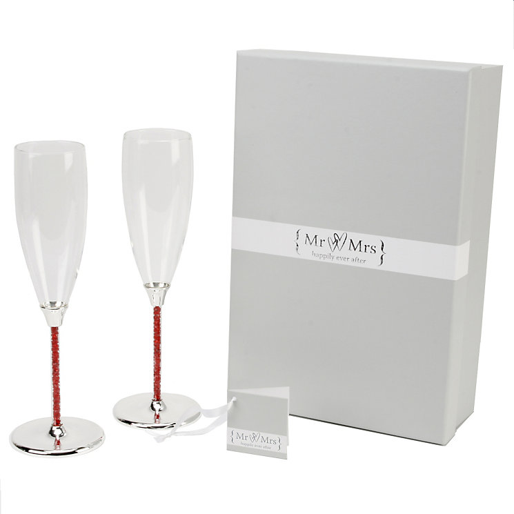 Special Memories Ruby Crystal Stem Flutes - Product number 9937803