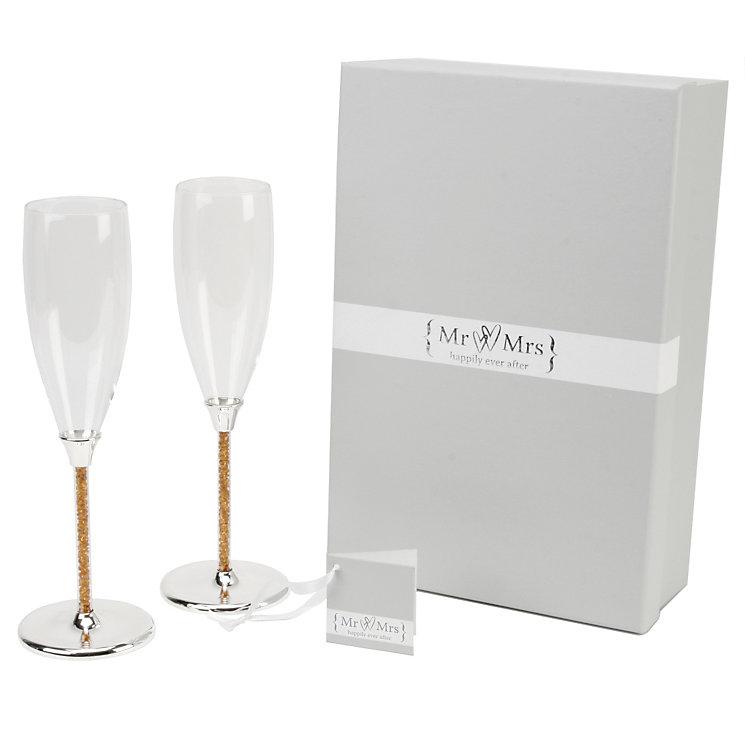 Special Memories Golden Crystal Stem Champagne Flutes - Product number 9937811