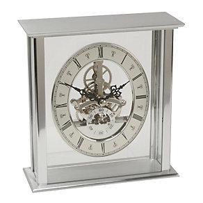 Rectangular Aluminium Mantle Clock - Product number 9937862