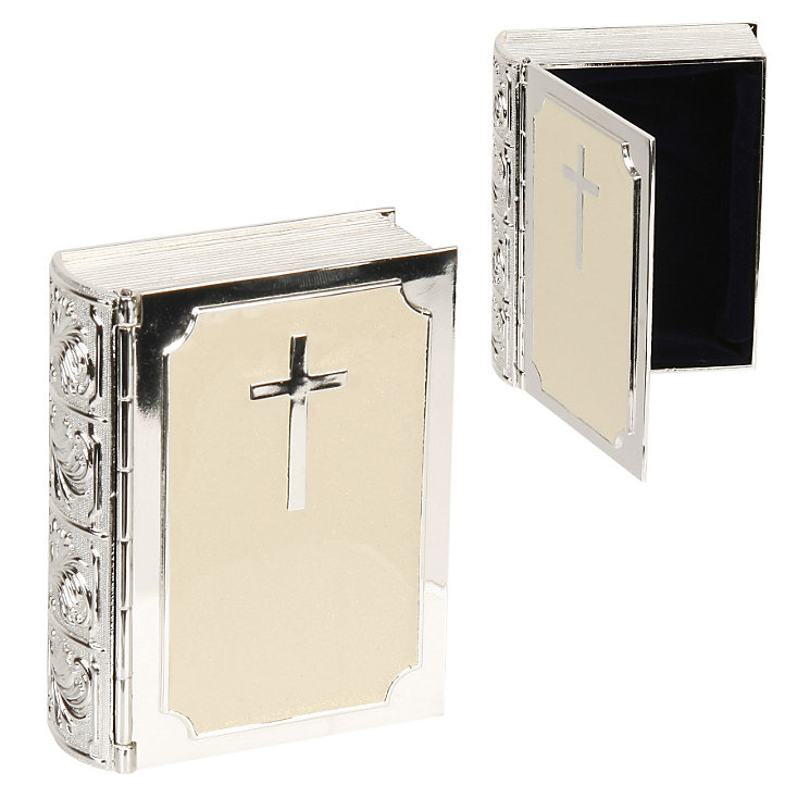 Childhood Memories Silver-Plated Bible Trinket Box - Product number 9937897