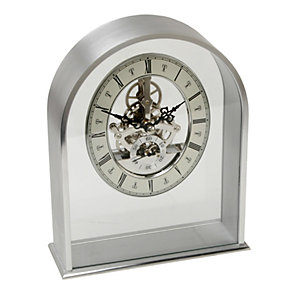 Arched Aluminium Skeleton Dial Mantle Clock - Product number 9938192