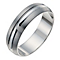9ct white gold 6mm matte & polished band ring - Product number 9941088