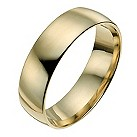 14ct yellow gold 6mm extra heavy court ring - Product number 9943242